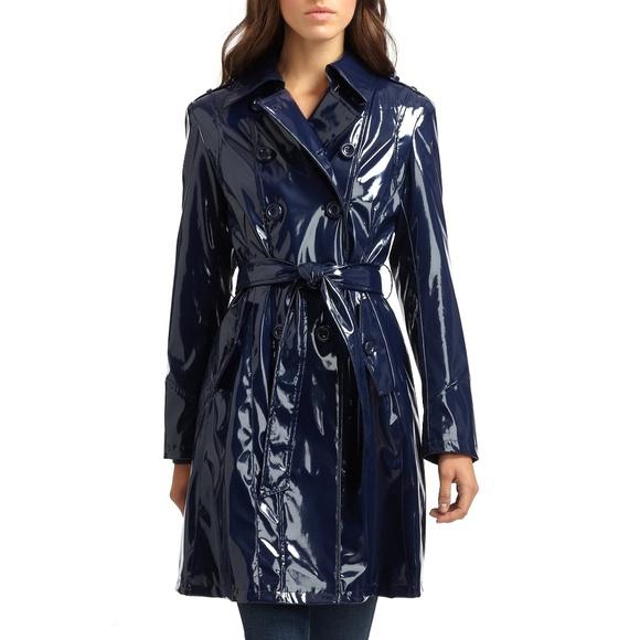 a3e4c112e2e1 ... Patent Leather Trench Raincoat. M 5adec5a3caab44814861c7f2